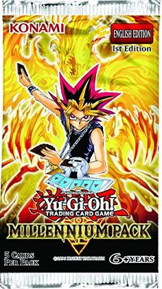 Collectible Trading Card Booster Packs - YuGiOh Millennium Pack Booster Pack *** Visit the image link more details.