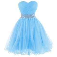 Queensroyal Short Strapless Beaded Sash Prom Dresses Ball Gowns