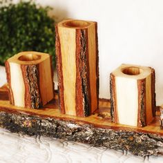 Rustic Candle Set of 4