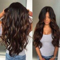 Long Wavy Ash-Brown Balayage - 20 Light Brown Hair Color Ideas for Your New Look - The Trending Hairstyle Brown Hair Balayage, Brown Ombre Hair, Brown Blonde Hair, Brown Hair With Highlights, Brown Hair Colors, Red Ombre, Peekaboo Highlights, Purple Highlights, Burgundy Hair