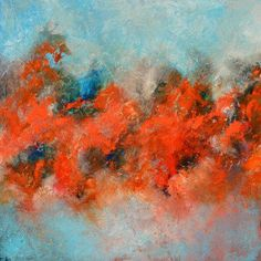"""""""Fire and Ice"""" by Andrada Anghel. A stunning original painting from Andrada's latest collection. View more of Andrada's stunning abstract paintings on FineArtSeen l The Home Of Original Art. >> Pin For Later <<"""