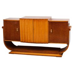 French Art Deco Walnut Sideboard