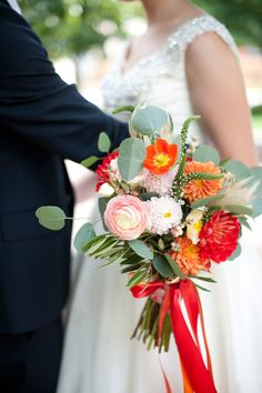 a sunny, sherbet fall wedding bouquet. flowers by @Emily Schoenfeld King, photos by tiffany bolk.