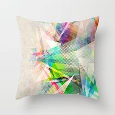 Graphic 5 Throw Pillow by Mareike Böhmer - $20.00