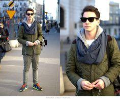 #warsawstreetfashion #warsaw #street #fashion #polish #stylish #guy #man #boy #handsome #nike #scarf #blue #black #sunglasses #ulica #modauliczna #centrum #warszawa #city #style #style #outfit #look