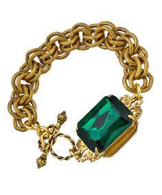 John Wind Bracelet Gem Stone Mesh Gold Maximal Art Jewelry New