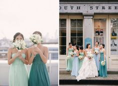 blue bridesmaids different - Google Search