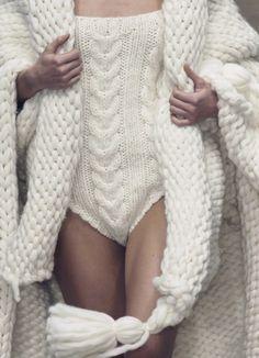 knitting bathing suit