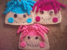 Crochet LaLa Loopsy hats... I need to find a pattern for these
