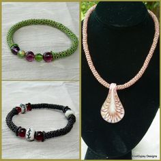 Micro Macrame PATTERN   Tubular  Necklace and di KnotGypsyDesigns