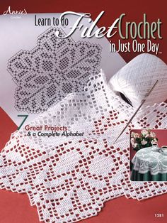 Learn to do Filet Crochet in Just One Day Crochet Pattern Book Download from e-PatternsCentral.com -- Follow the easy step-by-step instructions in this e-book to create lovely, lacy filet crochet doilies, runners and more. 7 designs included.