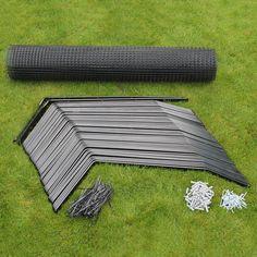 Überkletterschutz System Bausatz zum Selbstaufbau an vorhandenen Zäunen, Mauern oder anderen Katzensicherungen. Verschiedene Bausätze ausreichend von 10-50m