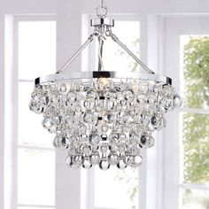 Shop for Costway Elegant Crystal Chandelier Modern 6 Ceiling Light Lamp Pendant Fixture Lighting - Transparent. Get free delivery On EVERYTHING* Overstock - Your Online Ceiling Lighting Store! Get in rewards with Club O! Modern Chandelier, Chandelier Lighting, Round Chandelier, Bottle Chandelier, Bathroom Chandelier, Bedroom Chandeliers, Transitional Chandeliers, Chandelier Ideas, Chandelier In Living Room