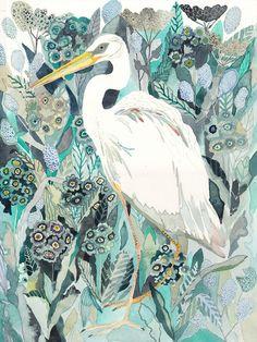 Michelle Morin's Latest Works: whiteheronprimulaclose3.jpg