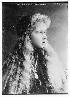 """Princess Marie """"Mignon"""" of Romania, the future Queen of Yugoslavia, Originally black and white picture coloured by me for A Princess's long blonde hair Romanian Royal Family, Casa Real, Prince And Princess, Historical Pictures, Women In History, Queen Victoria, Ferdinand, King Queen, Vintage Photos"""