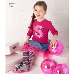 Simplicity Pattern 1785 Toddlers' & Child's Sportswear