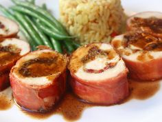 Prosciutto Wrapped Chicken Breast Stuffed with Dried Cherries