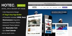 Hotec - Responsive Hotel, Spa & Resort WP Theme . Hotec has features such as High Resolution: No, Widget Ready: Yes, Compatible Browsers: IE9, IE10, IE11, Firefox, Safari, Opera, Chrome, Compatible With: WPML, WooCommerce 2.4.x, WooCommerce 2.3.x, Software Version: WordPress 4.3.1, WordPress 4.3, WordPress 4.2, WordPress 4.1, Columns: 2