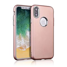 Matte Finish Metalized Buttons Soft TPU Case for Apple iPhone X - Rose Gold