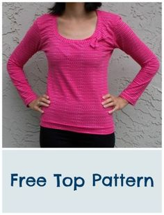 FREE SEWING PATTERN:  Broad neck Top