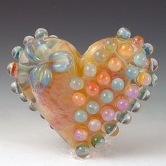I Heart You  1 bead borosilicate/boro Redside by redsidedesigns, $50.00