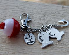 Fathers Day Gift for Dad Keychain Stole My by PrettyByPriscilla