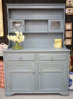 Autentico blue painted dresser.