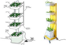 Build a Hydroponic Indoor Garden from IKEA Parts : TreeHugger - http://www.treehugger.com/sustainable-product-design/diy-guide-hydroponic-gardening-using-ikea-parts.html