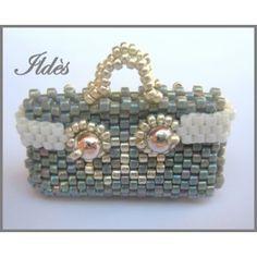 Schémas d'Objets en Perles : Schéma Mini Sacs Cabas, Sac à main, Pochette