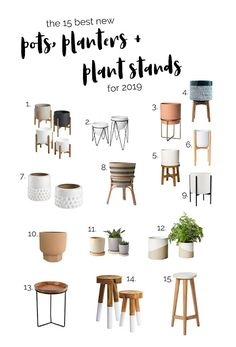 Cute Pots Planters Plant Stands for Spring 201915 Cute Pots Planters Plant Stands for Spring 2019 Mid Century Modern Plant Stand with U Shape Matte Blush Ceramic Plante. Indoor Plant Pots, Indoor Planters, Planter Pots, Cement Planters, Indoor Plant Stands, Pots For Plants, Ficus Tree Indoor, Zz Plant, Indoor Herbs