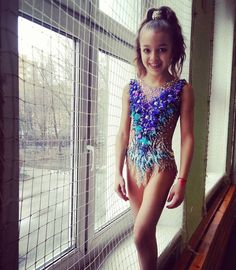 Gymnastics Costumes, Gymnastics Poses, Gymnastics Photography, Gymnastics Outfits, Rhythmic Gymnastics Leotards, Dance Costumes, Dance Bows, Little Girl Pictures, Gym Leotards