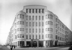 Housing Facade Plaster Shape  sigurd frosterus - apartments, museokatu 3, töölönkatu 6, helsinki, 1912-13