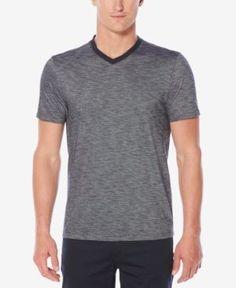 Perry Ellis Men's Classic-Fit Textured V-Neck T-Shirt - Blue 2XL