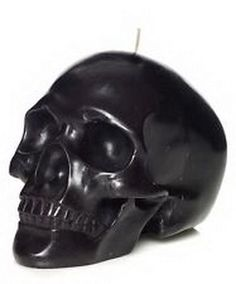1 x LARGE BLACK SKULL CANDLE Wicca Goth Witch Pagan Spell SEPARATION HEXING