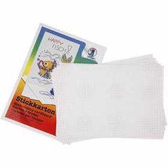 #Kruissteken #karton, vel 23x33 cm, 300 gr, 10 vellen, wit
