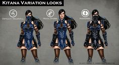 Mortal Kombat X: Fatal Gemini Pack *FAN MADE Concept Art* Kitana A skin pack I thought of for Kitana and Mileena for the upcoming Mortal Kombat X! Kitana's skin is klassicaly inspired but I made it so that it felt like it fits in with the mood and. Mortal Kombat Costumes, Kitana Cosplay, Kitana Mortal Kombat, Female Character Concept, Character Reference, Art Reference, Mileena, Cosplay Costumes, Cosplay Ideas