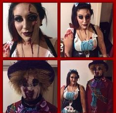Halloween , ripped skin malice and bloody face hatter