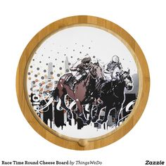 Race Time Round Cheese Board