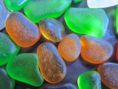 Beach Glass or Sea Glass of Hawaii's beaches SALE GOLD Lime UV 21 dollars in my Etsy shop SeaGlassFromHawaii. $21.00, via Etsy.