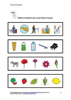 Materiales CAA – Intrusos – Aula abierta de ARASAAC Hidden Pictures, St Louis, Literacy, Acting, Homeschool, Language, Activities, Ideas Para, Speech Pathology