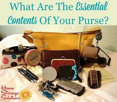 How To Declutter Your Purse & Keep It That Way