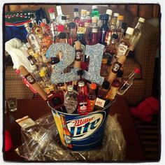 See more ideas about shot bouquet, alcohol gifts and birthday bouquet. 21st Birthday Bouquet, 21st Birthday Basket, Guys 21st Birthday, 21st Bday Ideas, 21 Birthday, Birthday Cakes, Alcohol Bouquet, Liquor Bouquet, Diy Gifts For Boyfriend
