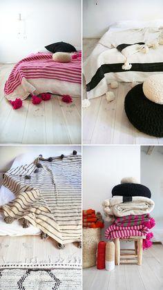 Muima blankets: tassels