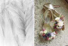 How to use florals on your wedding day - shoes adorned with fresh flowers