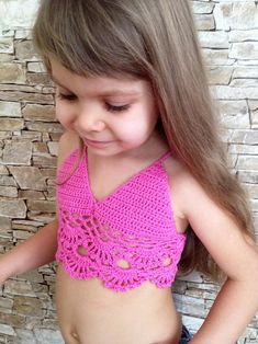 Crochet toddler top rosa crochet tabla de ganchillo abierta | Etsy