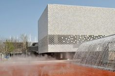 Tiles in seven, sublte shades of white. Addition to the existing Lisbon Oceanarium | Pedrp Campos Costa