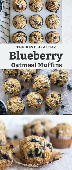 Oatmeal Blueberry Muffins Healthy, Healthy Blueberry Recipes, Homemade Blueberry Muffins, Healthy Breakfast Muffins, Healthy Muffin Recipes, Baked Oatmeal Muffins, Healthy Muffins For Kids, Gluten Free Blueberry Muffins, Healthy Oatmeal Recipes
