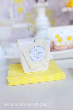 PRINTABLE Favor Tags  Yellow & Gray Party by tomkatstudio on Etsy, $6.50
