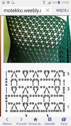 1 080 × 1 920 pixels by karaNice combo of simple stitches.Crochet Patterns Scarf This would be a great stitch for a shawl or wrap, I wanna try itCrochet pattern - chart only, not a link.beautiful stitch for baby quilts - Salvabrani Crochet amigurumi lear Crochet Shawl Diagram, Poncho Au Crochet, Crochet Motifs, Crochet Stitches Patterns, Crochet Chart, Crochet Scarves, Knitting Stitches, Crochet Designs, Stitch Patterns