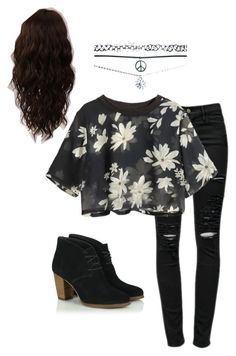 """""""Untitled #86"""" by dude-iloveyouxo ❤ liked on Polyvore featuring Frame Denim, Wet Seal and WigYouUp"""